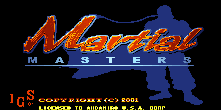 Martial Masters title screenshot