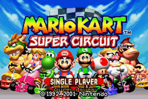 Mario Kart - Super Circuit title screenshot