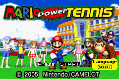 Mario Power Tennis title screenshot