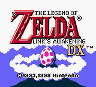 Legend of Zelda, The - Link's Awakening DX title screenshot