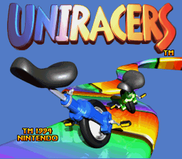 Uniracers title screenshot