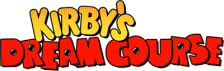 Kirby's Dream Course logo