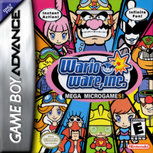 WarioWare, Inc. - Mega Microgame$! Nintendo Game Boy Advance cover artwork