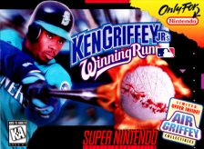 Ken Griffey Jr.'s Winning Run Nintendo Super NES cover artwork