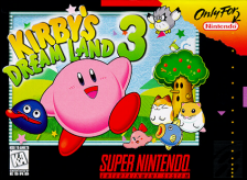 Kirby's Dream Land 3 Nintendo Super NES cover artwork
