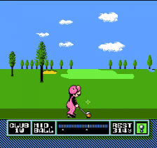 NES Open Tournament Golf ingame screenshot