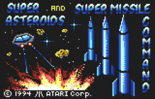 Super Asteroids & Missile Command title screenshot