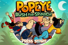Popeye - Rush for Spinach title screenshot