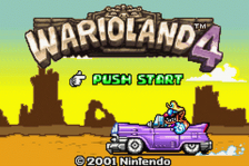 Wario Land 4 title screenshot