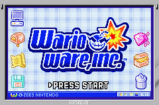 WarioWare, Inc. - Mega Microgame$! title screenshot