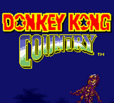 Donkey Kong Country title screenshot