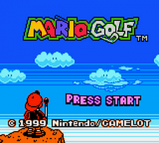 Mario Golf title screenshot