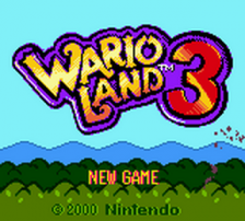 Wario Land 3 title screenshot