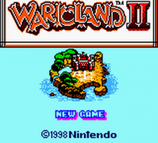 Wario Land II title screenshot