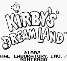 Kirby's Dream Land title screenshot