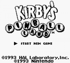 Kirby's Pinball Land title screenshot