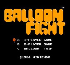 Balloon Fight title screenshot