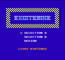 Excitebike title screenshot