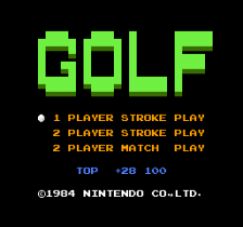Golf title screenshot