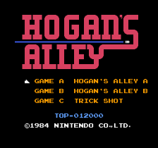 Hogan's Alley title screenshot