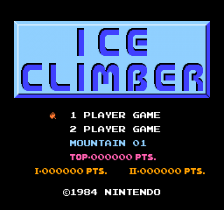 Ice Climber title screenshot