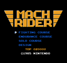 Mach Rider title screenshot