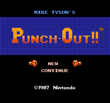 Mike Tyson's Punch-Out!! title screenshot
