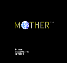 EarthBound Zero - Mother 1 title screenshot