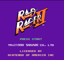 Rad Racer II title screenshot