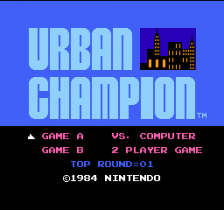 Urban Champion title screenshot