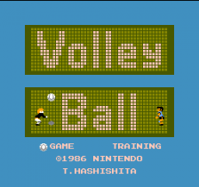 Volleyball title screenshot