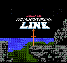 Zelda II - The Adventure of Link title screenshot