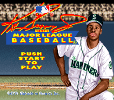 Ken Griffey Jr. Presents Major League Baseball title screenshot