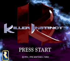 Killer Instinct title screenshot