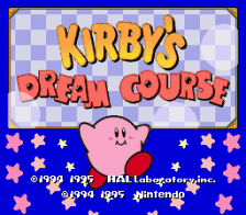 Kirby's Dream Course title screenshot