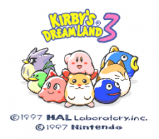 Kirby's Dream Land 3 title screenshot