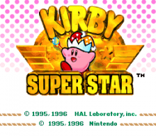 Kirby Super Star title screenshot