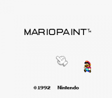 Mario Paint title screenshot