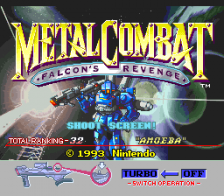 Metal Combat - Falcon's Revenge title screenshot