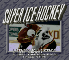 Super Ice Hockey title screenshot