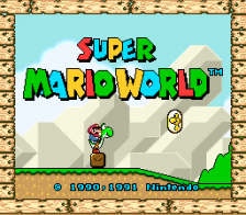 Super Mario World title screenshot