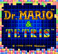 Tetris & Dr. Mario title screenshot