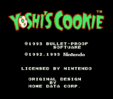 Yoshi's Cookie title screenshot